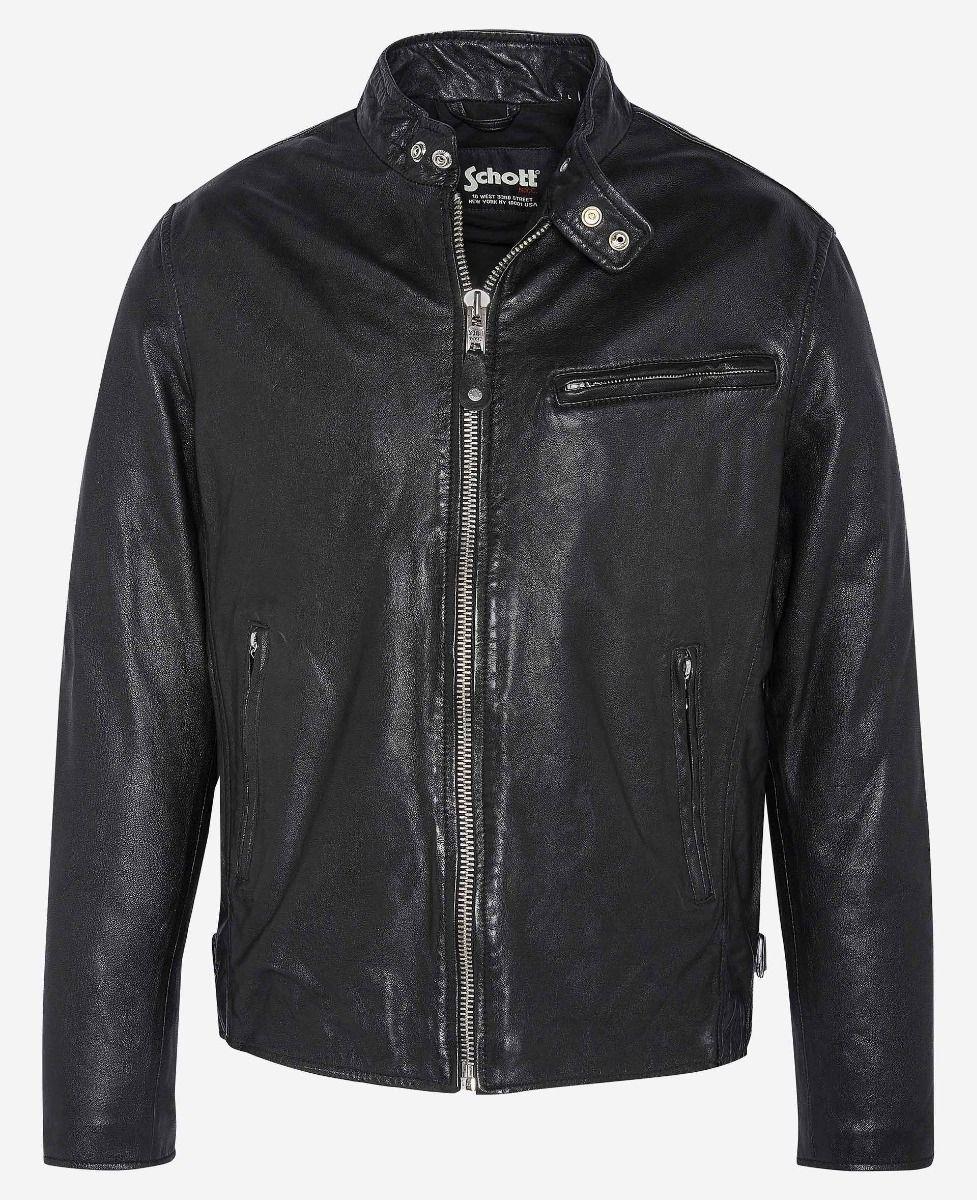 Schott Ανδρικό Δερμάτινο NYC Classic Café Racer jacket LC949WX